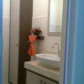 Banheiro em MDF nas cores Nude e Lassen