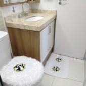 Balcão de Banheiro com  Mármore Travertino