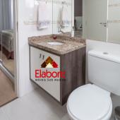 Armário para banheiro planejado com pia de granito