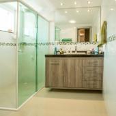 Balcão de Banheiro em MDF na cor Roble Mayor