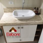 Armário de banheiro em MDF  com cuba de sobrepôr