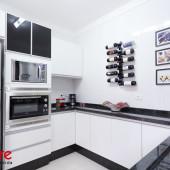 Torre em MDF Branco para forno e microondas embutidos