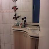 Balcão de banheiro e granito redondos
