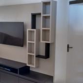 Painel 100% MDF com nichos em design super moderno