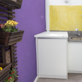 Armário para embutir máquina de lavar roupas