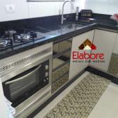 Cozinha em MDF com gavetas em espelho  bronze